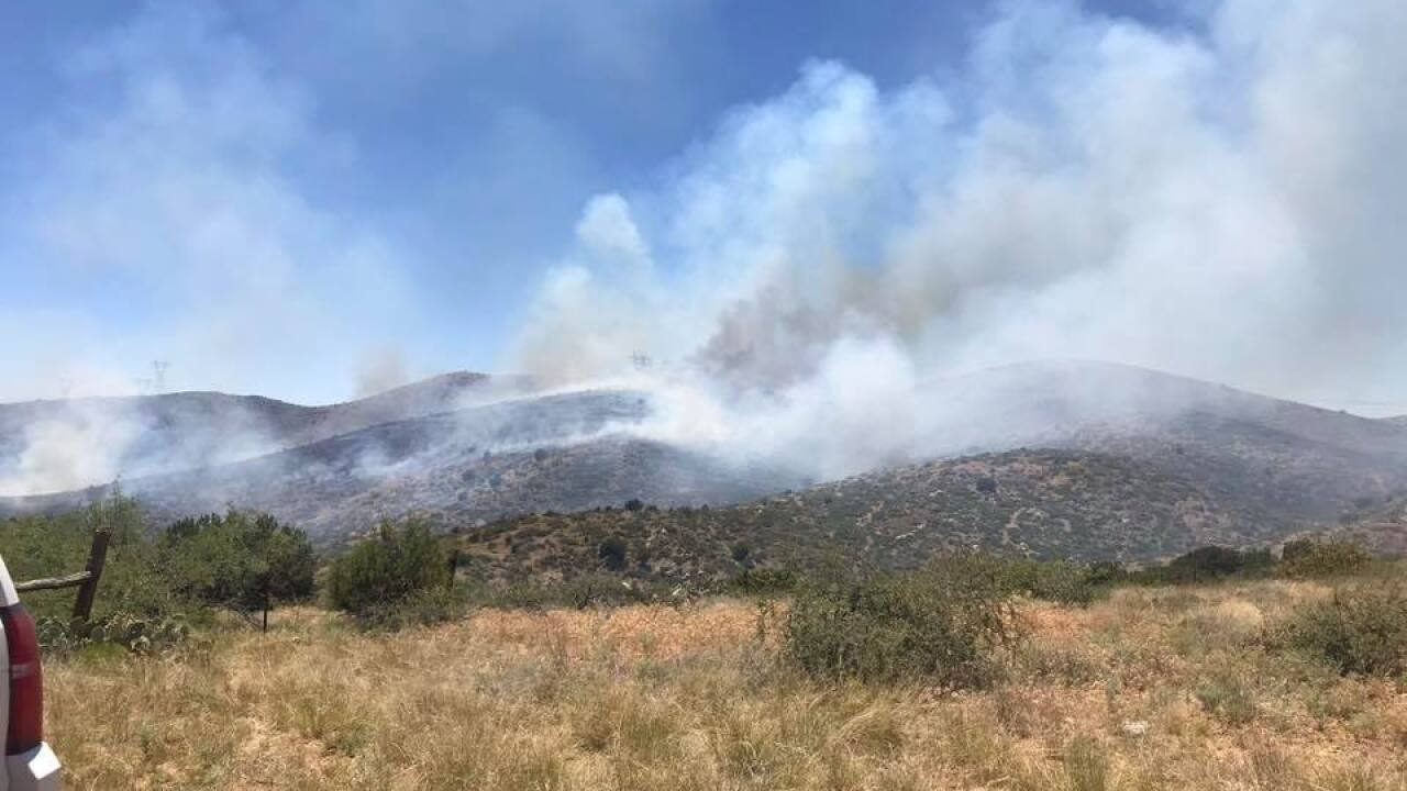 KNXV Orme Fire Near Mayer