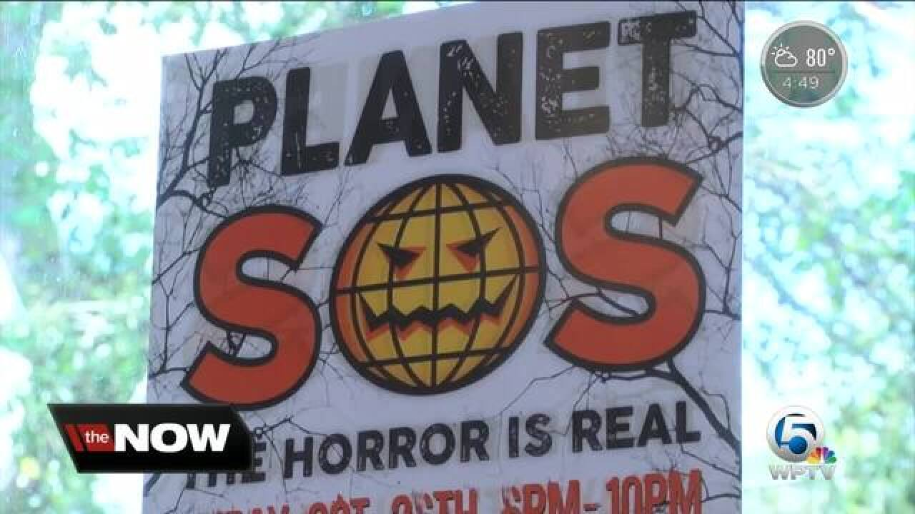 Delray students turn haunted house into environmental nightmare