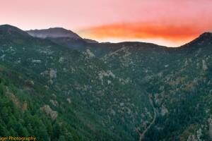 Decker Fire Smoke Sunset