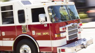 Wind-driven fire damages home under renovations
