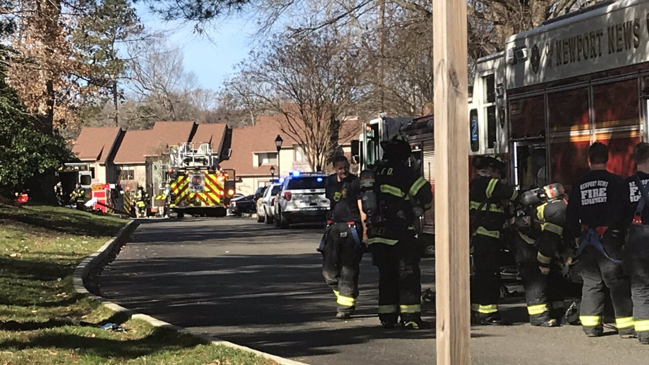 Several people displaced after apartment fire in Newport News