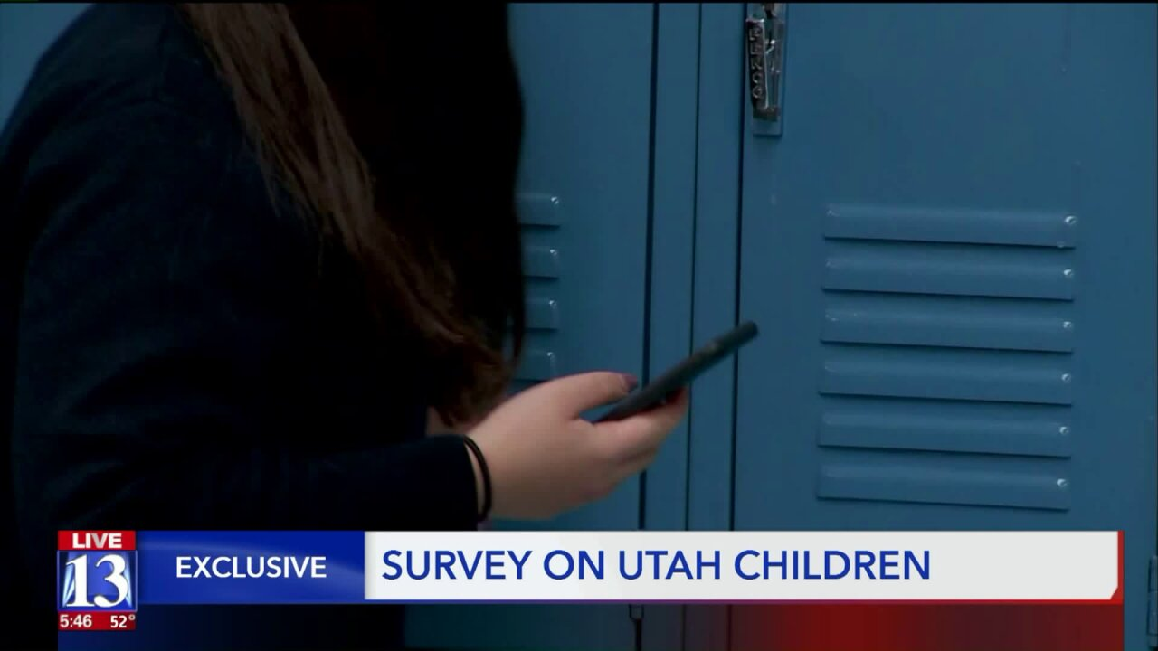 From drug use to time spent staring at a phone, Utah's Department of Human Services has published a big new survey on ourchildren