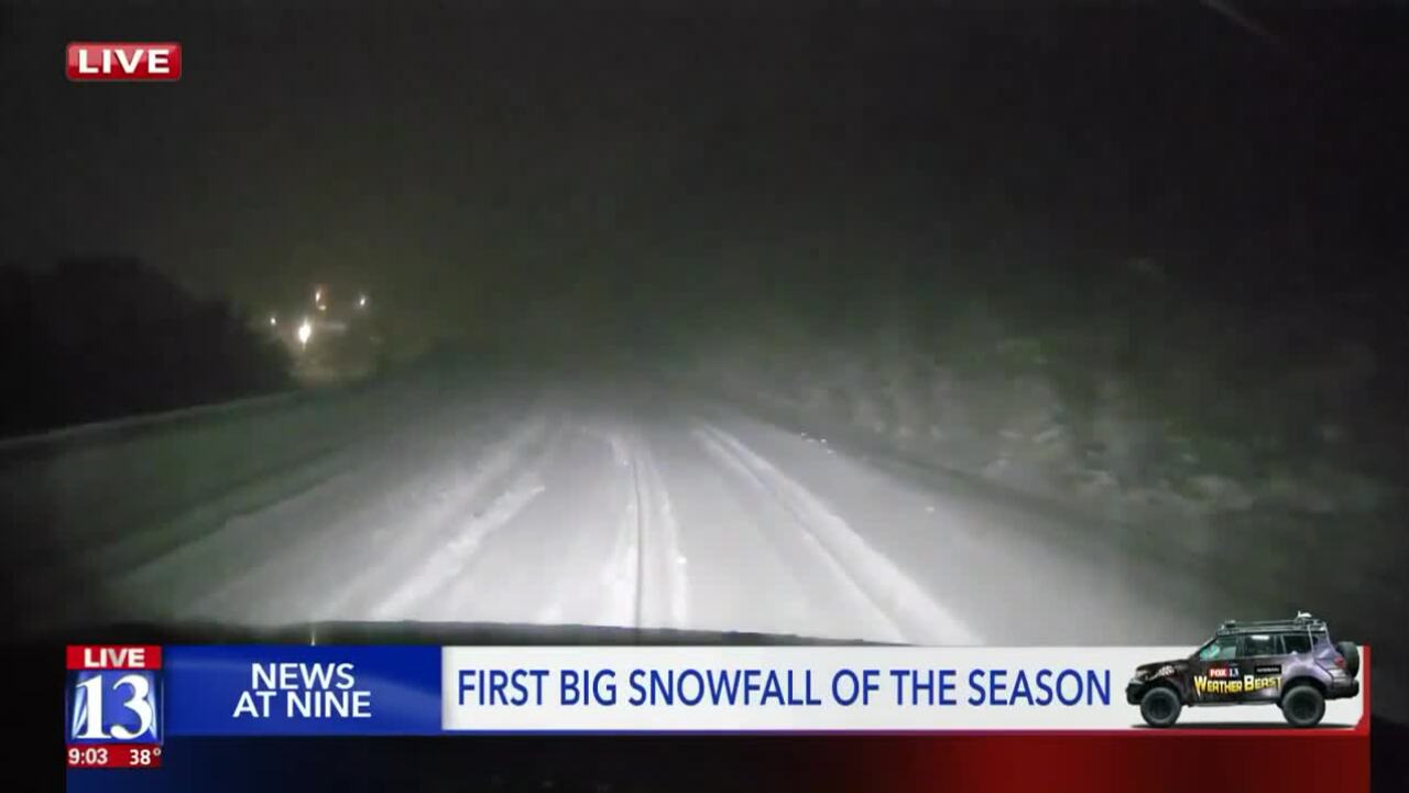 UDOT crews tackle first big snowstorm of theseason