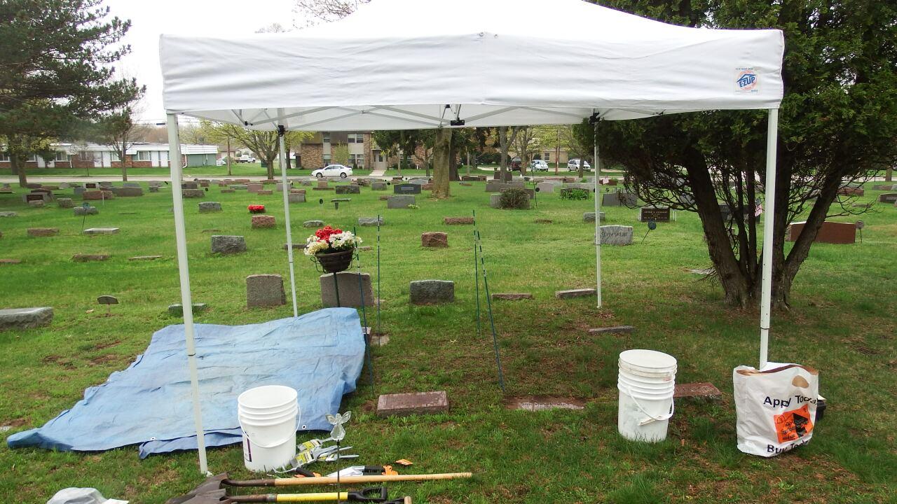 Two Rivers infant death grave site