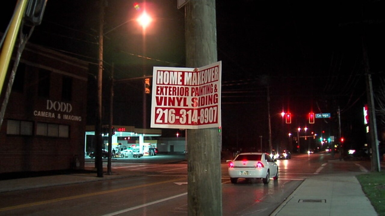 CLE illegal signs litter all parts of the city