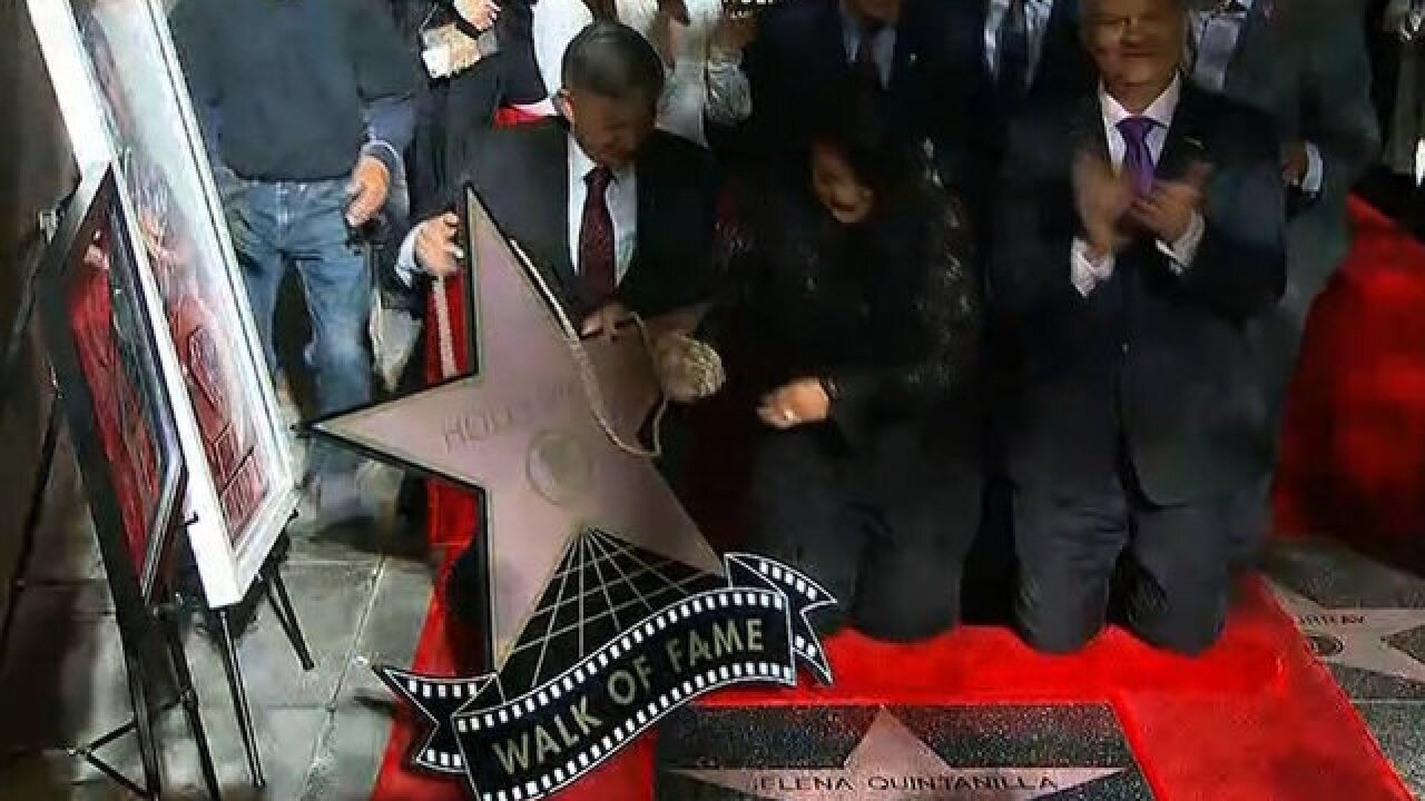 Selena Quintanilla honored with star on Hollywood Walk of Fame