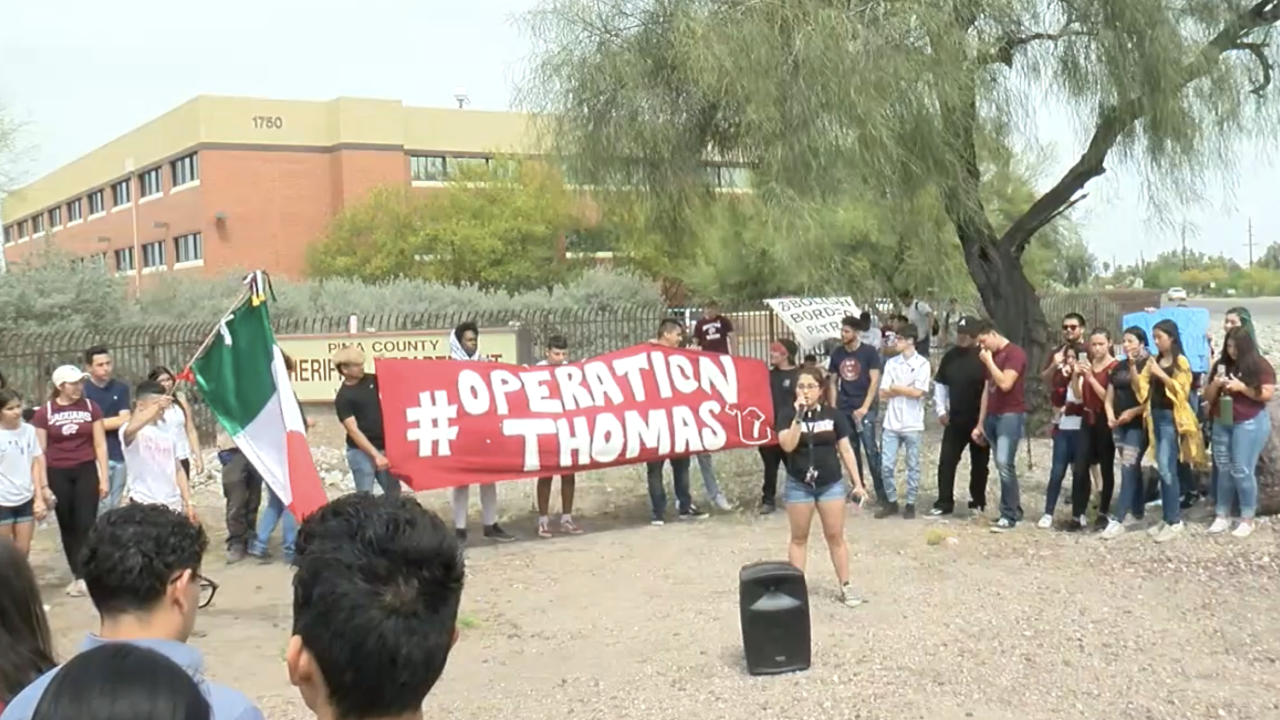 KNXV Desert View Students Protest Classmate's ICE detention