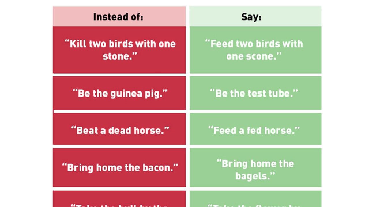 PETA says these phrases are comparable to racism and homophobia
