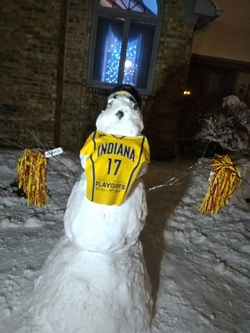 PHOTOS: Hoosiers taking advantage of the spring snow