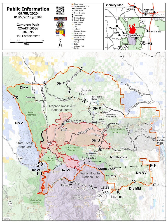 Cameron Peak Fire map_Sept 9 2020