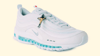 These sneakers called 'Jesus shoes' were filled with holy water and they sold out in one minute