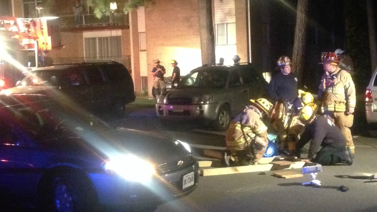 Six year old on life support after car plows through Henrico apartment building