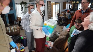 care package delivery - courtesy of Voyager Home Health Care
