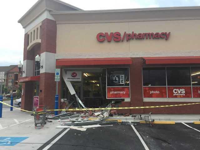 Car slams into Odenton CVS