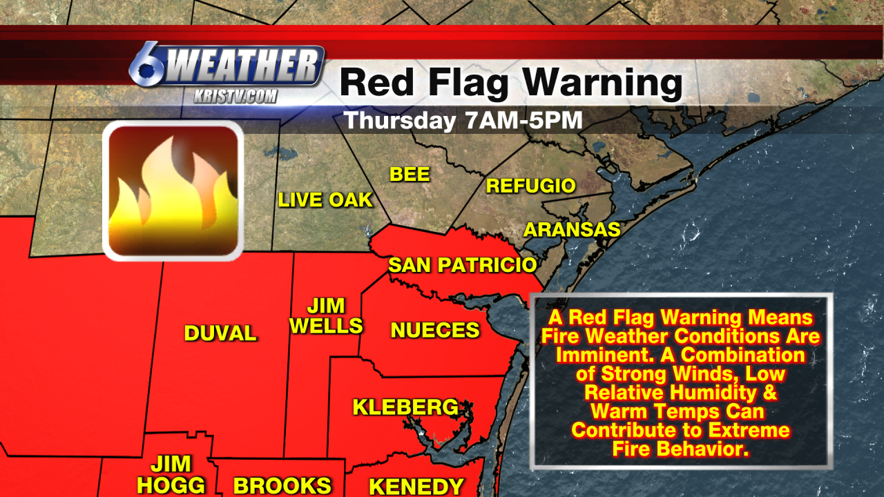 6WEATHER Red Flag Warning Map for 3/25/21