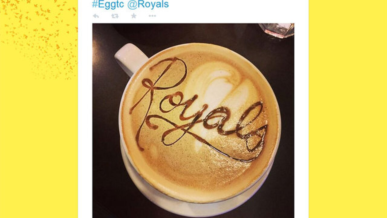 Royals Josh Willingham and wife thank barista for coffee art with World Series tickets