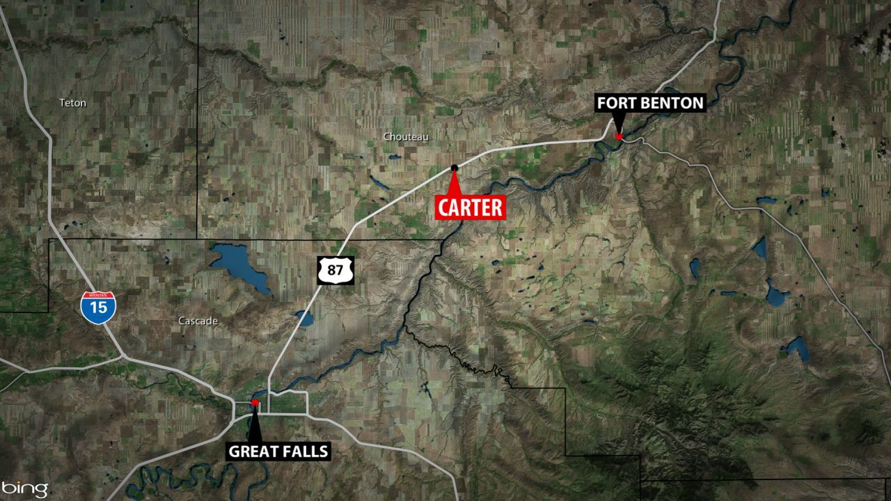 Fire burning in Chouteau County