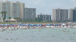 Busy Pinellas Beach