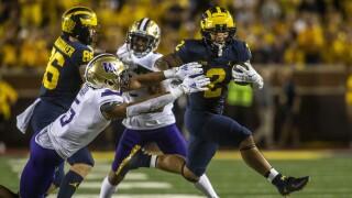Blake Corum, Alex Cook Washington Michigan Football