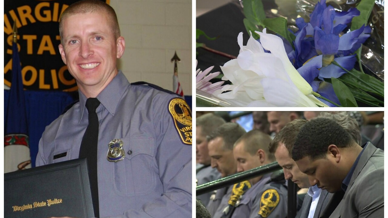 Community pays tribute to fallen VSP Trooper Chad Dermyer at vigil
