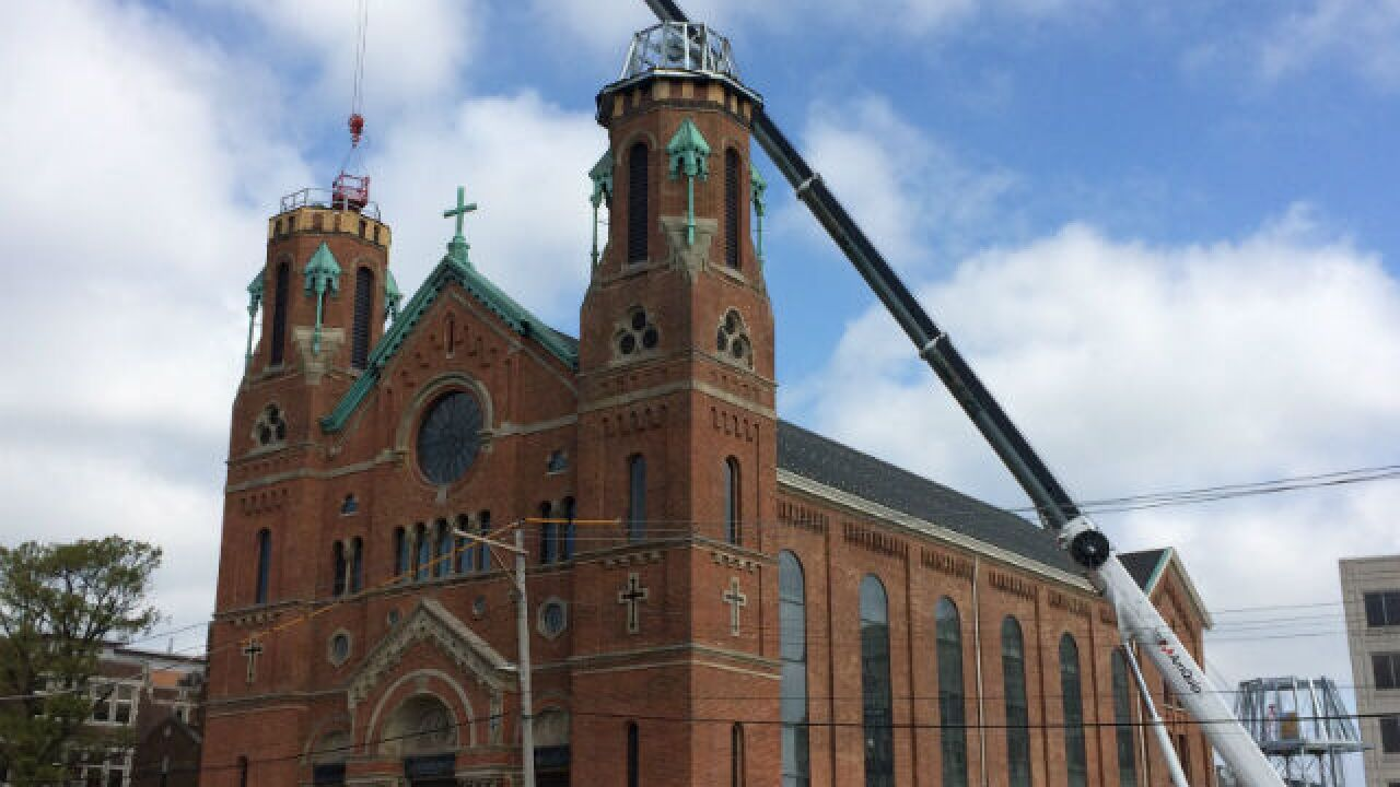 Iconic spires returning to St. George Church