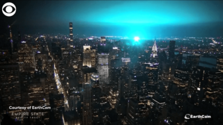 Video extra: Blue lights over New York City
