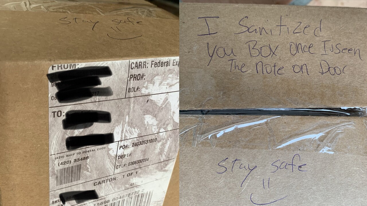 Note written on FedEx box.