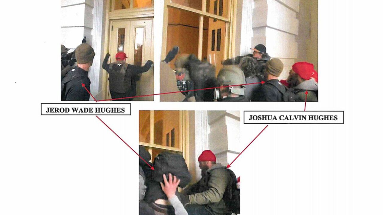 Joshua Calvin Hughes and Jerod Wade Hughes of Montana charged in connection with US Capitol riot