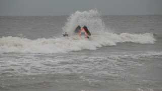 Rough beach conditions in the wake of Hurricane Dorian
