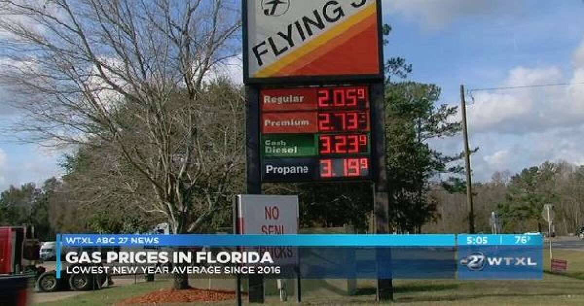 Gas Prices In Florida >> Gas Prices In Florida Are Lowest New Year Average Since 2016