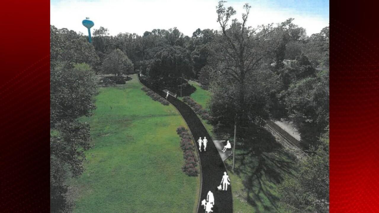 Opelousas South Park walking trail