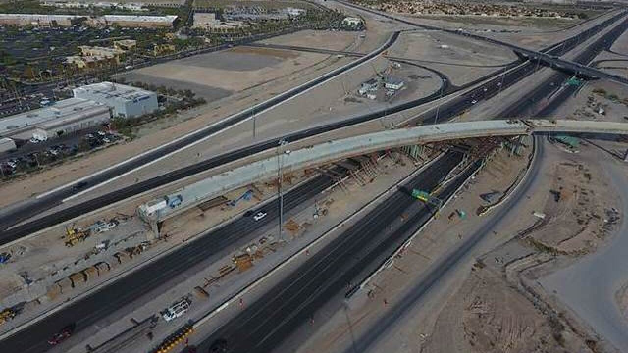 U.S. 95 nightly lane restrictions July 30-Aug. 4 in northwest Las Vegas