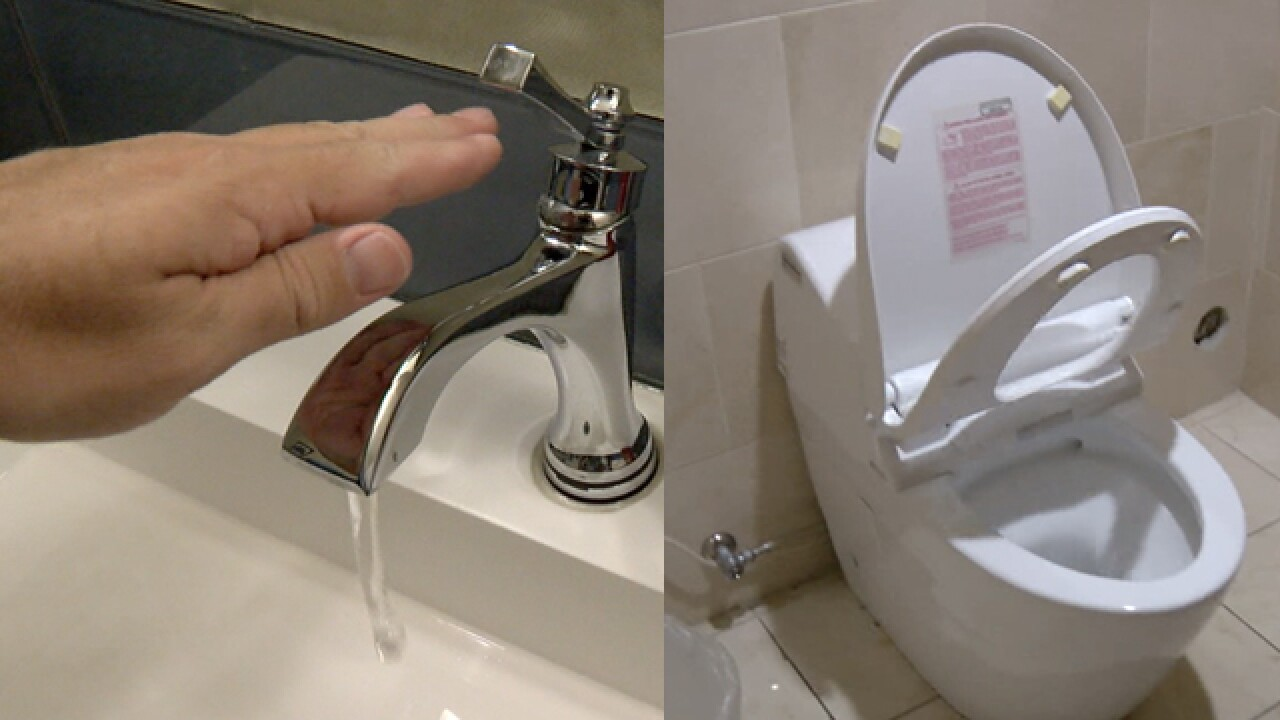 Tina Roesler says people are buying toilets that do more than lift their lids, some of them clean themselves.