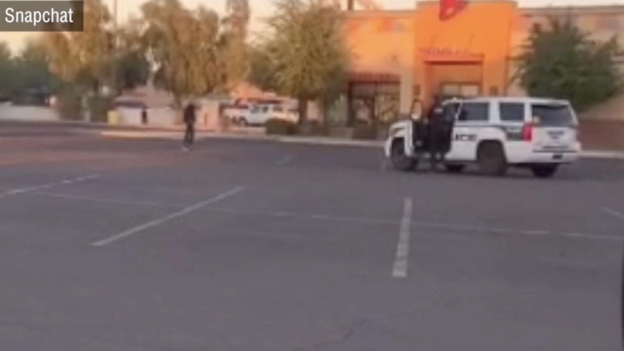 Snapchat - Glendale officer shoots man outside Taco Bell