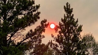smoke obscures sun