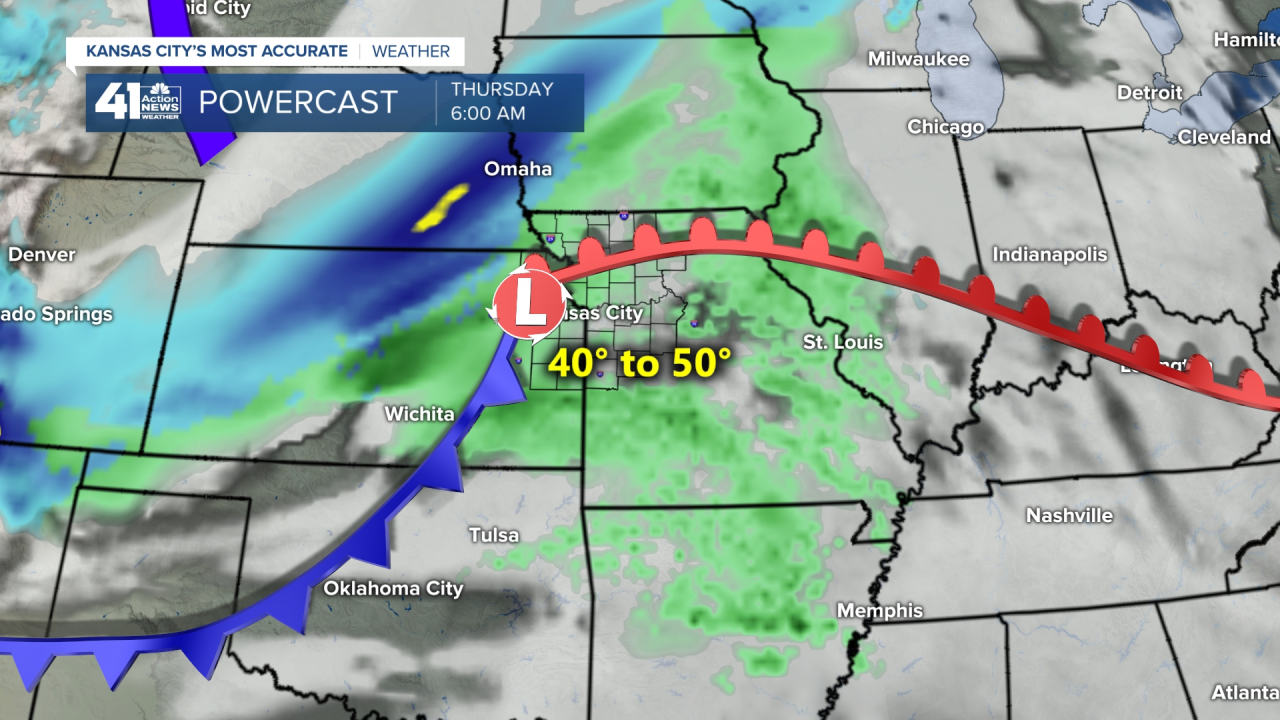 6 AM Thursday Forecast