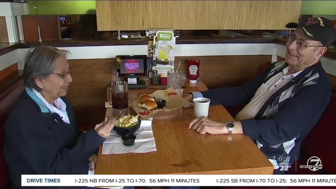 Aurora couple eats at same restaurant every day_Valentine's Day