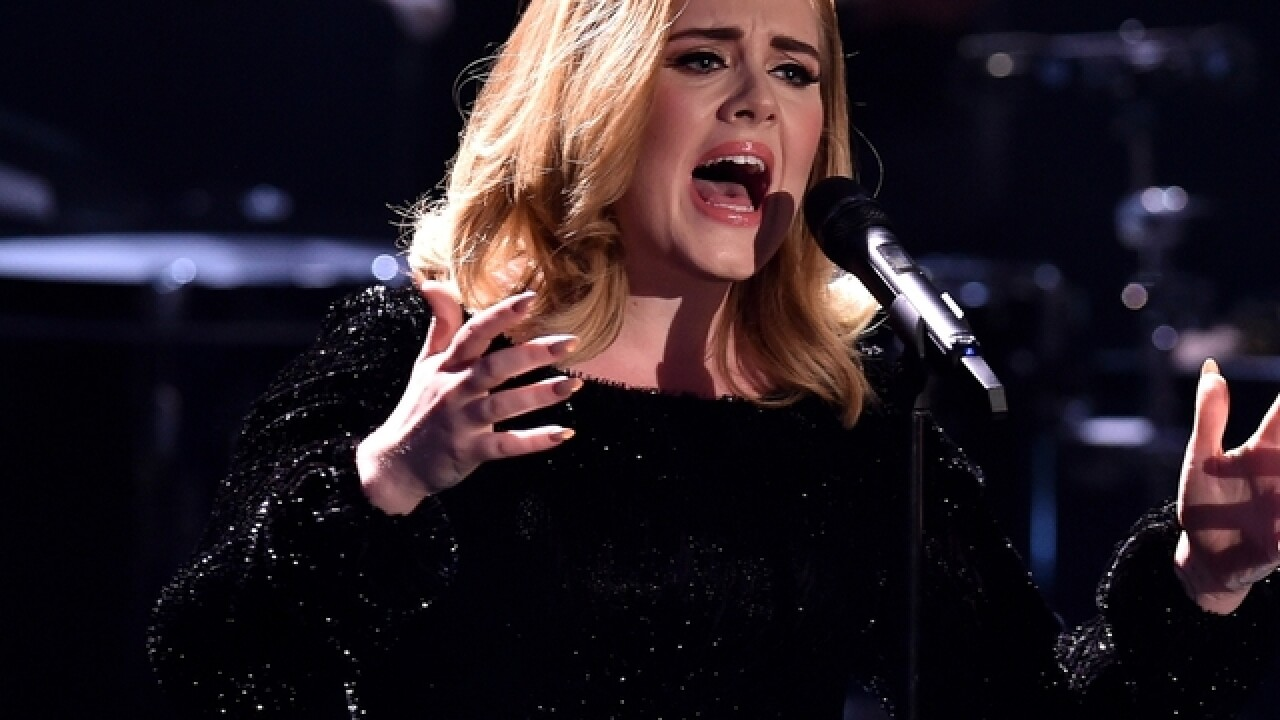 Adele gives fan a face-full of burp