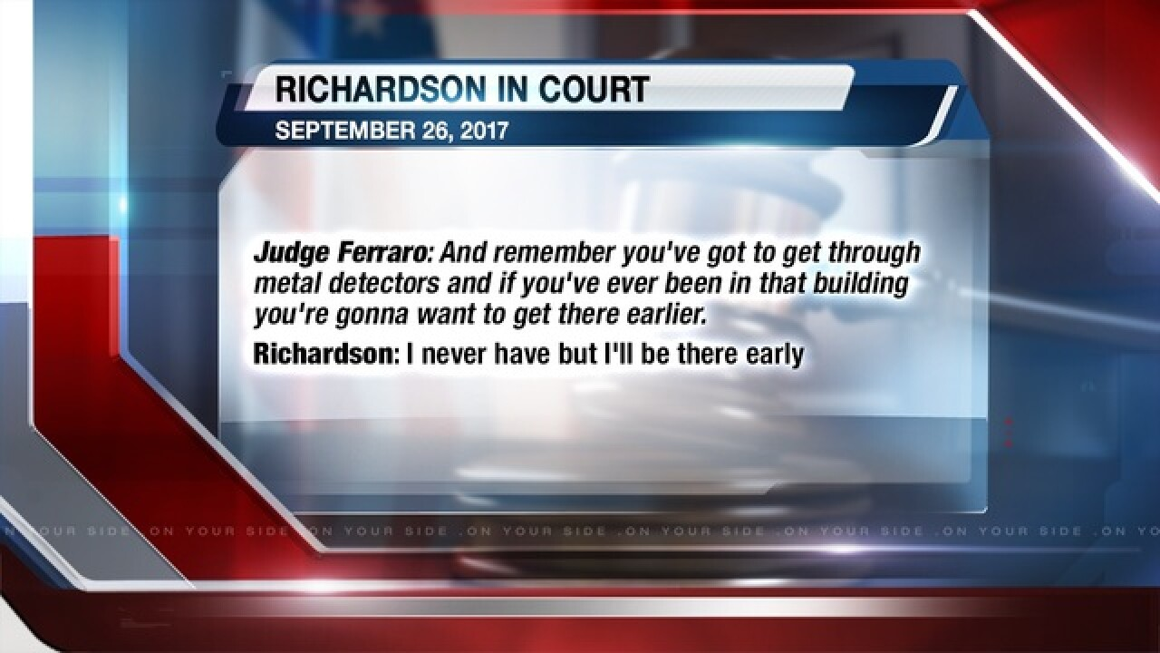 Hear Book Richardson speak in court