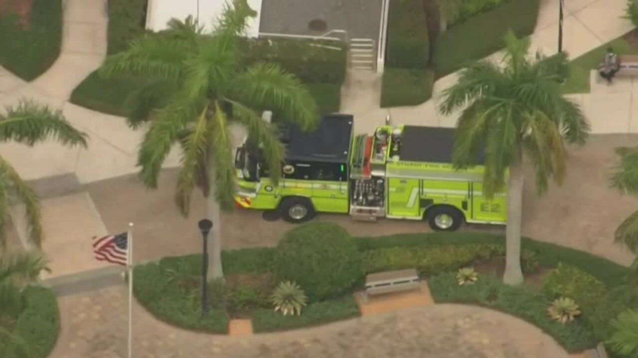 Fire truck at Cleveland Clinic Martin North Hospital in Stuart on Oct. 12, 2021