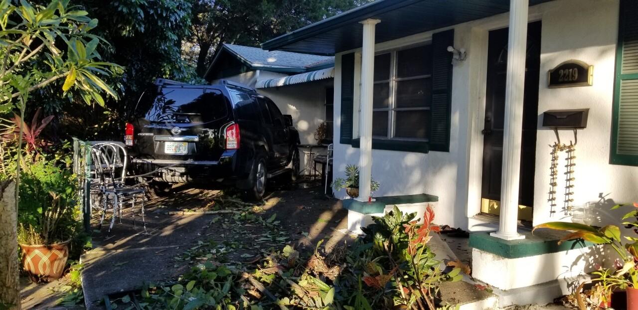 car into house 3