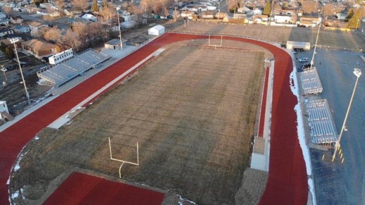 Sidney High School football field and track