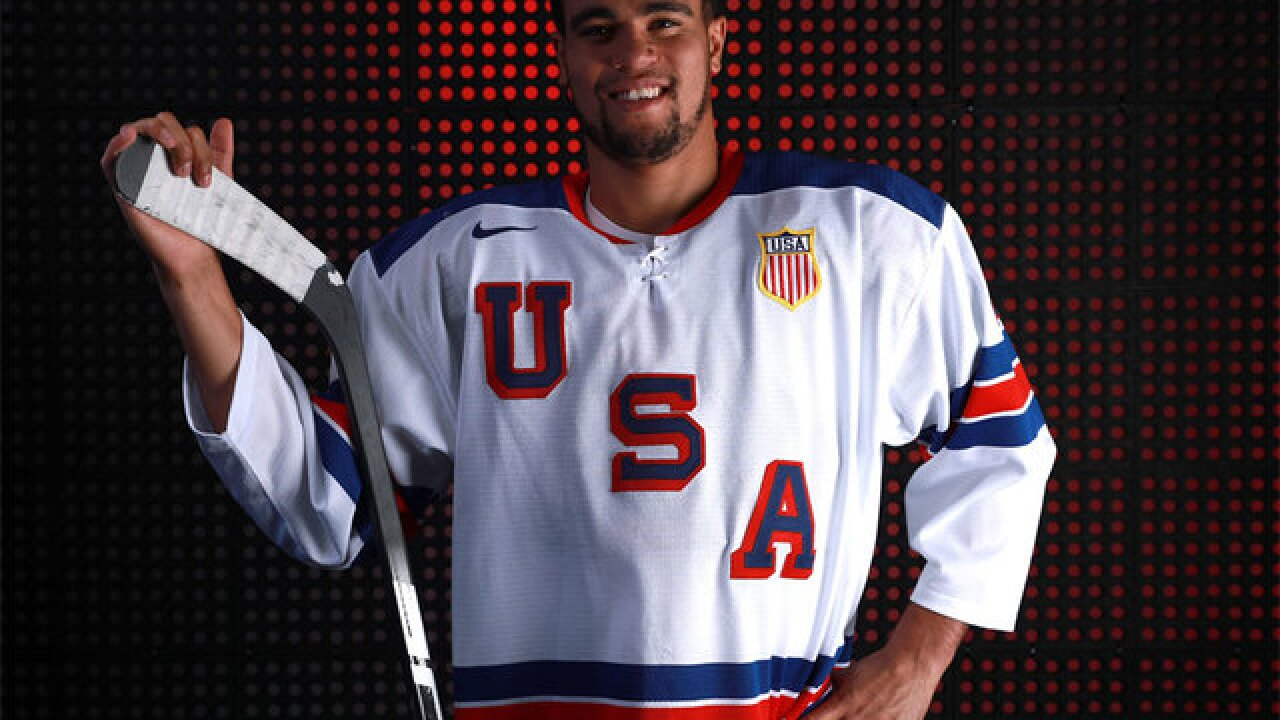 For the first time in Olympic history, an African-American is playing for a US hockey team