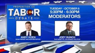 TABOR debate moderators