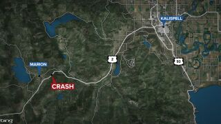 One person died and two were injured in a two-vehicle crash in Flathead County on Monday, September 6, 2021.