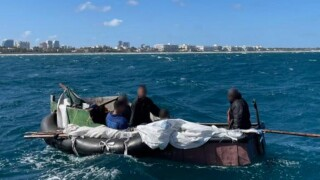 Cubans on man-made raft rescued near Lake Worth Inlet