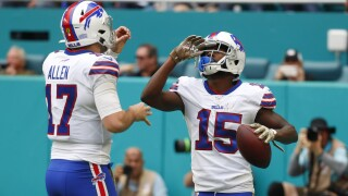 Josh Allen and John Brown shine in dominating win against Dolphins