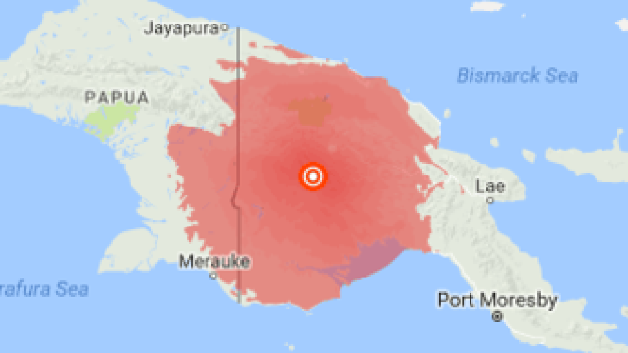 WEATHER BLOG: 7.5 earthquake rattled Papua New Guinea