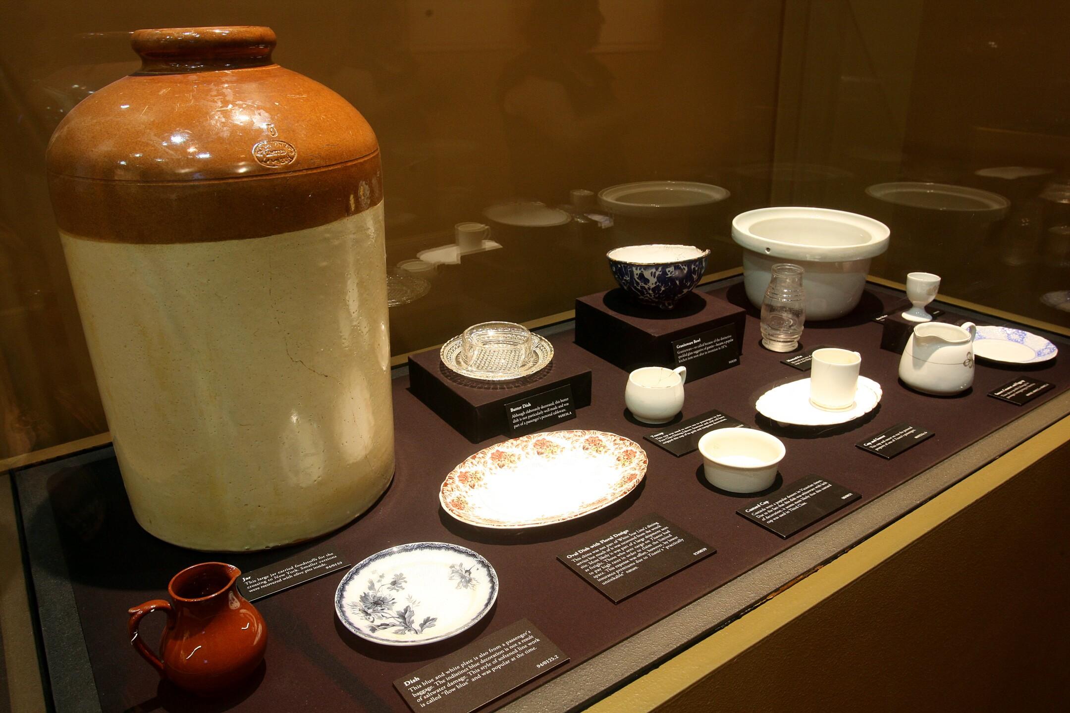 Ceramic Jug, Various China, Egg Cup_Titanic the Artifact Exhibition at Luxor Hotel & Casino.jpg