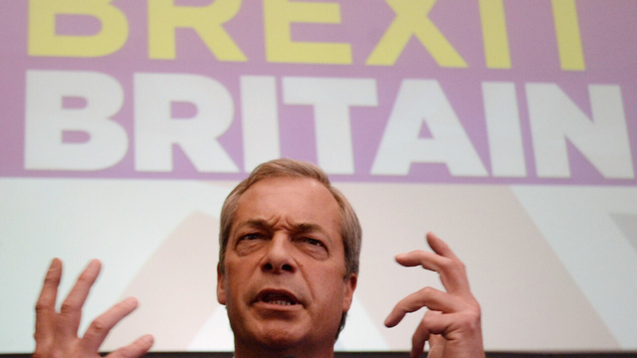 UK Independence Party chief Nigel Farage quits